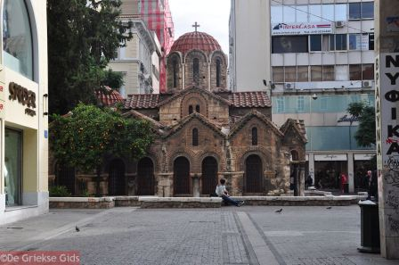 La coquetuela iglesia bizantina de Panagia Kapnikarea