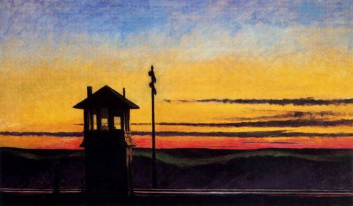 puesta de sol ferroviaria 1929