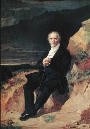Portrait of Charles Fourier (1772-1837) (oil on canvas) por Jean Francois Gigoux (1806-94)